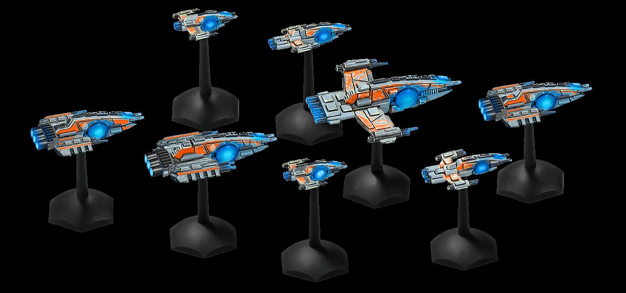 Die Starter-Flotte der Crusties