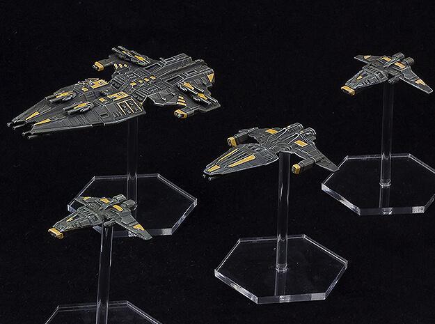 Schlachtkreuzer, Fregatte und Korvetten auf Litko Flightbases