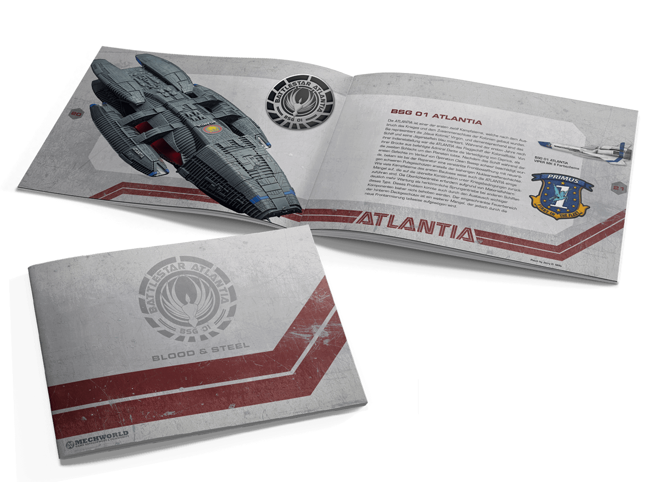 Battlestar Galactica Blood and Steel Booklet