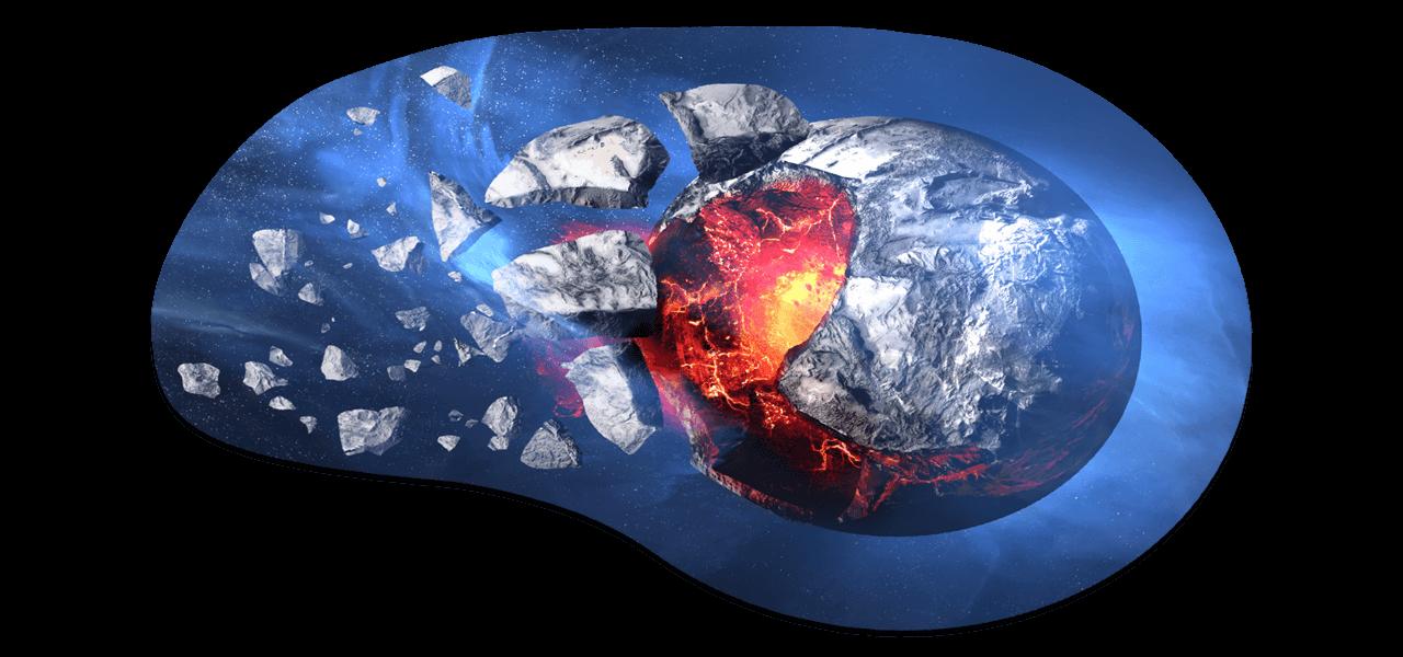 Zerstörter Planet