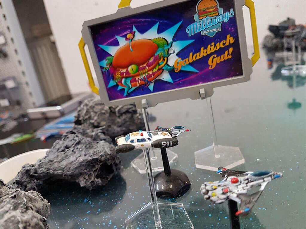 Space Police auf der Lauer